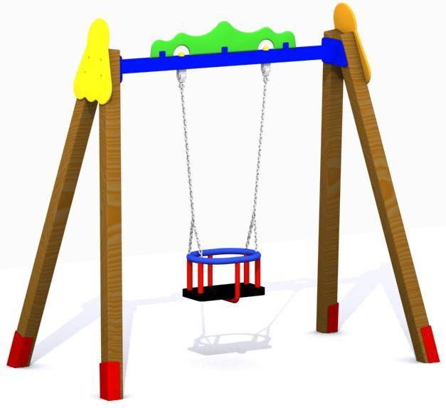 Columpio asiento cuna for Columpios infantiles