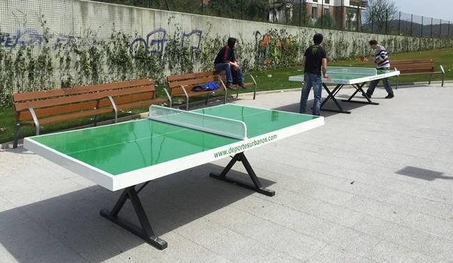 Mesas de ping pong exterior y antivand licas para parques for Mesa de ping pong exterior