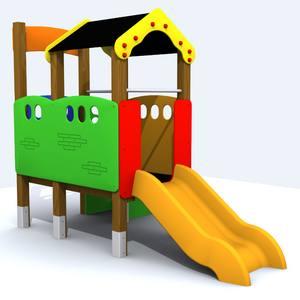 casita elevada para parques infantiles