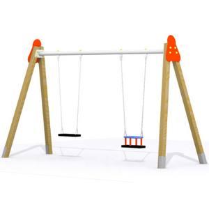 Columpio 2 asientos para parques infantiles for Columpios infantiles