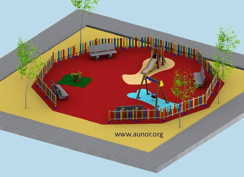 Oferta parque infantil modelo aunor for Plano escuela infantil