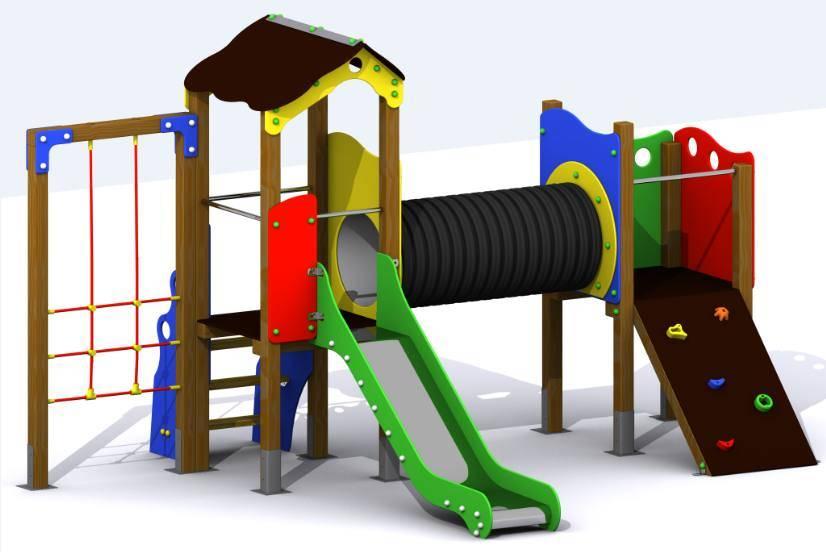 conjunto de juegos para parques infantiles de exterior con torres tnel elevado tobogn rampa rocdromo y trepa