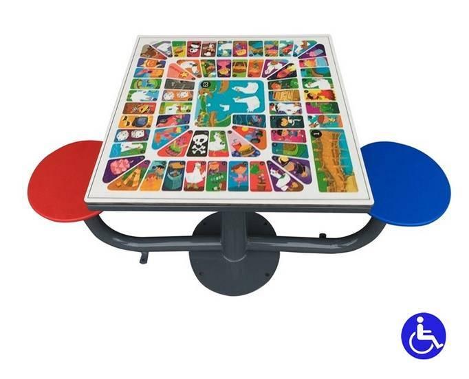 Juegos de mesa exterior adaptadas para parques inclusivos for Santorini juego de mesa