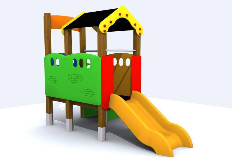 Casita elevada para parques infantiles for Casita exterior infantil