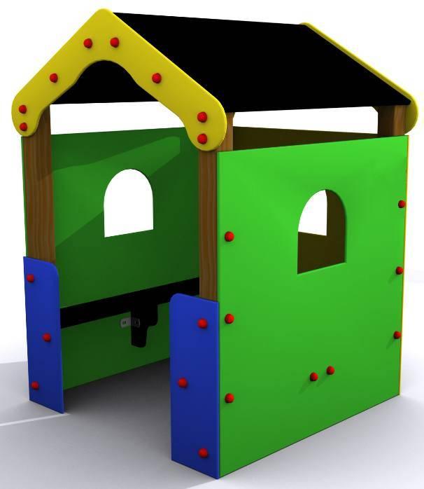 Casita infantil para parques y jardines for Casita exterior infantil