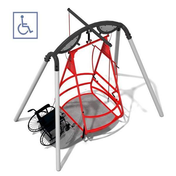 Columpio para silla de ruedas columpios adaptados for Sillas para discapacitados