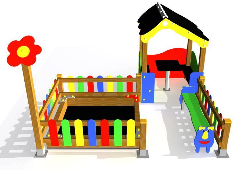 Conjunto casita la flor para parques infantiles for Casita exterior infantil