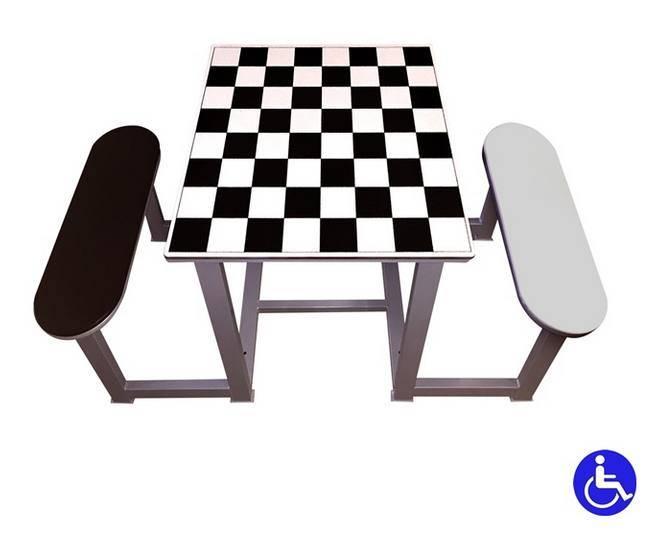 Mesas de ajedrez para parques y plazas for Sillas para parques