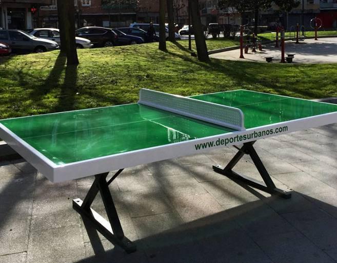 Mesas de ping pong exterior y antivand licas para parques - Mesas de pinpon ...