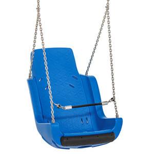 Asiento Columpio Inclusivo con cadenas y cinturón de seguridad