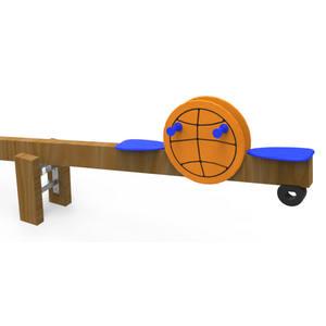Balancín de 4 plazas para parques infantiles. Modelo Sport Baloncesto