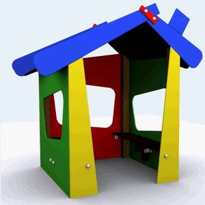 Casita para parques y guarderías Modelo Pirineo