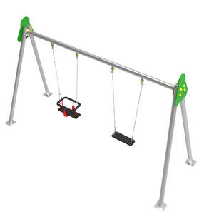 Columpio infantil de 2 plazas con asientos mixtos metálico