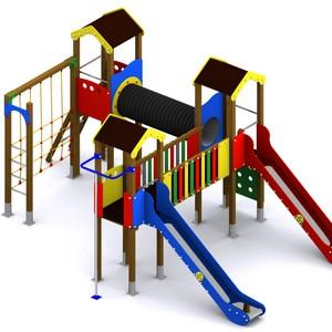 Conjunto de juegos infantiles modulares. Modelo Narcea