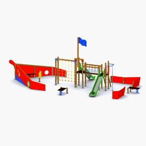 Completo parque infantil exterior El Barco Atlántico