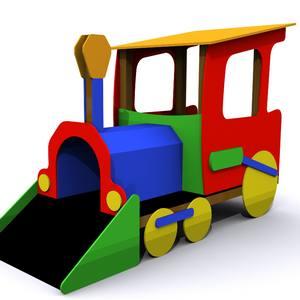Juegos para parques infantiles. Tren Minero