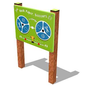 Panel de juegos para parques Piedra, Papel o Tijera
