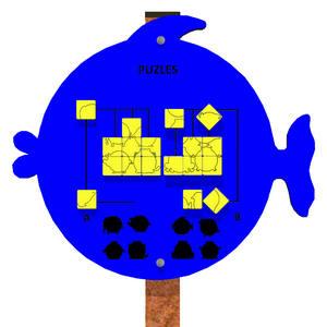 Paneles lúdicos para parques infantiles Juego de Puzles