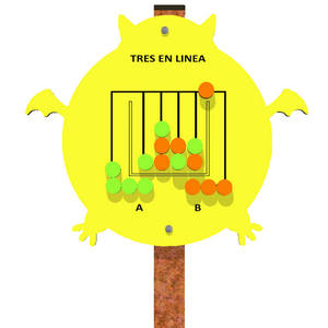 Panel de juego lúdico para parques infantiles Tres en Línea