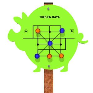 Panel de juego Tres en Raya para parques infantiles inclusivos