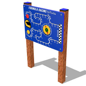 Panel juego lúdico inclusivo Carrera de Coches