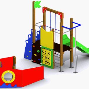 Parque infantil adaptado El Barco del Mar Menor