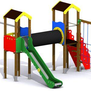 Parque Infantil Jarama. Conjunto modular de juegos infantiles