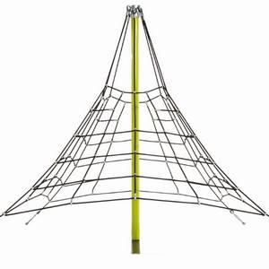 Trepa Pirámide de cuerdas para parques infantiles