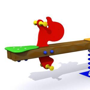 Balancín infantil de 2 plazas. Modelo Los Hipopótamos