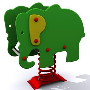 Balancines infantiles adaptados. Modelo Muelle El Elefante Adaptado