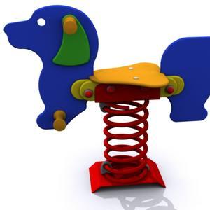 Balancín infantil individual. Modelo Muelle Simple El Perro