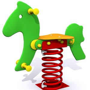 Muelle El Pony. Balancín para parques infantiles de exterior