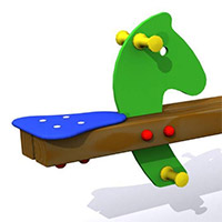 Balancín infantil de 2 plazas. Modelo Los Ponys