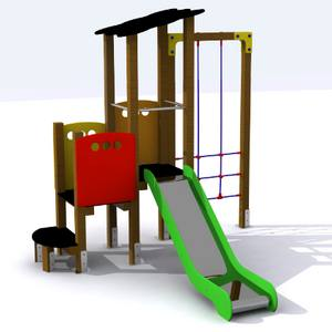 Conjunto Parque Infantil. Modelo Tormes con Trepa