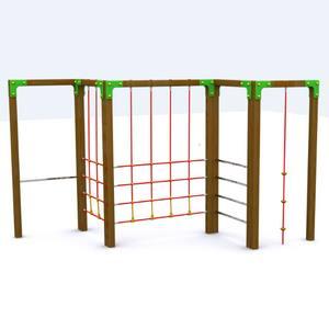 Juego Multi Trepa para parques infantiles. Modelo Trepa Aunor 1
