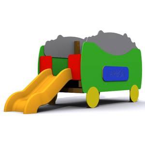 Juego parque infantil Vagón con Tobogán