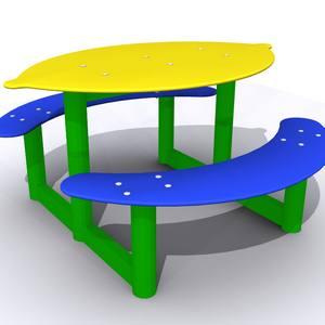 Mesita infantil para guarderías, parques y jardines. Modelo Limón