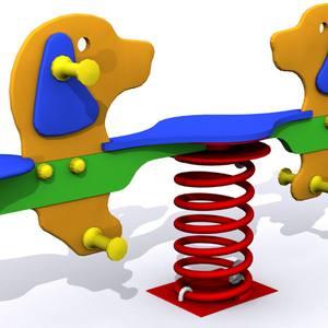 Muelle doble para parques infantiles. Modelo Los Panchos