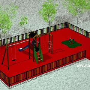 Oferta Parque Infantil Exterior. Modelo Aunor 03