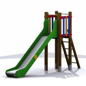Torre Tobogán para parques infantiles. Modelo Gredos Alta