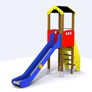 Torre Tobogán para parques infantiles. Conjunto Segura