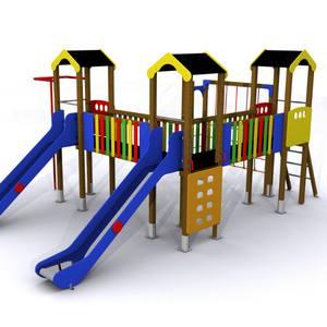 Torres para parques infantiles de exterior. Maxi Conjunto Nalón