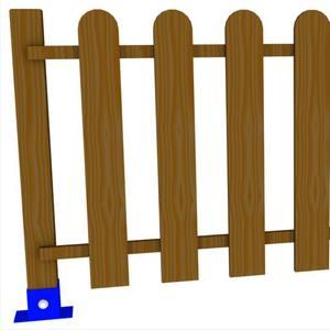 Vallado de madera. Vallas de madera para parques.