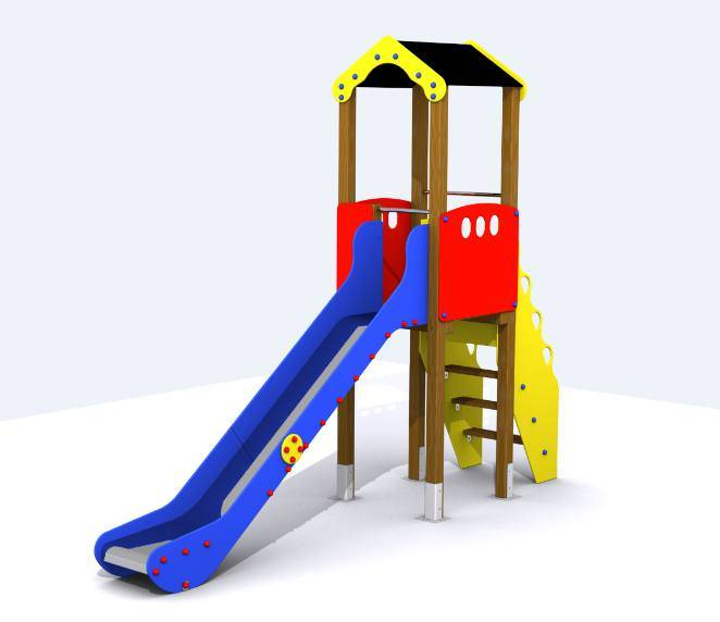 Torre Tobog N Para Parques Infantiles Conjunto Segura