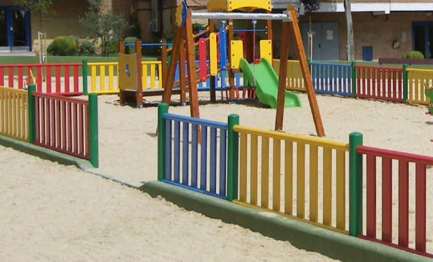 Valla met lica de colores para parques infantiles vallado - Vallas de plastico para jardin ...