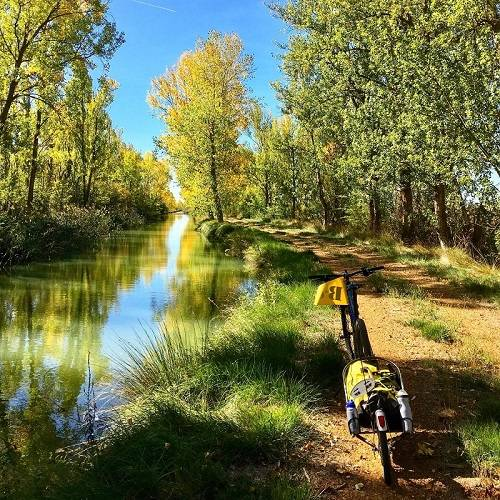 Canal de Castilla al completo- ruta en bici autoguiada