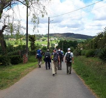 Los últimos 100 km del camino francés en albergues - en grupo y con guía