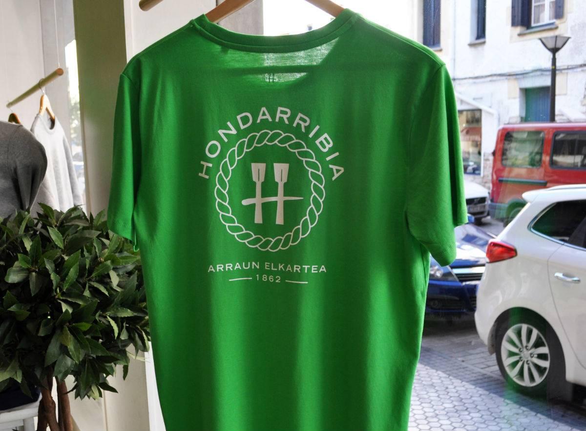 Camiseta Verde de Chico Logo a la espalda (portes debidos)