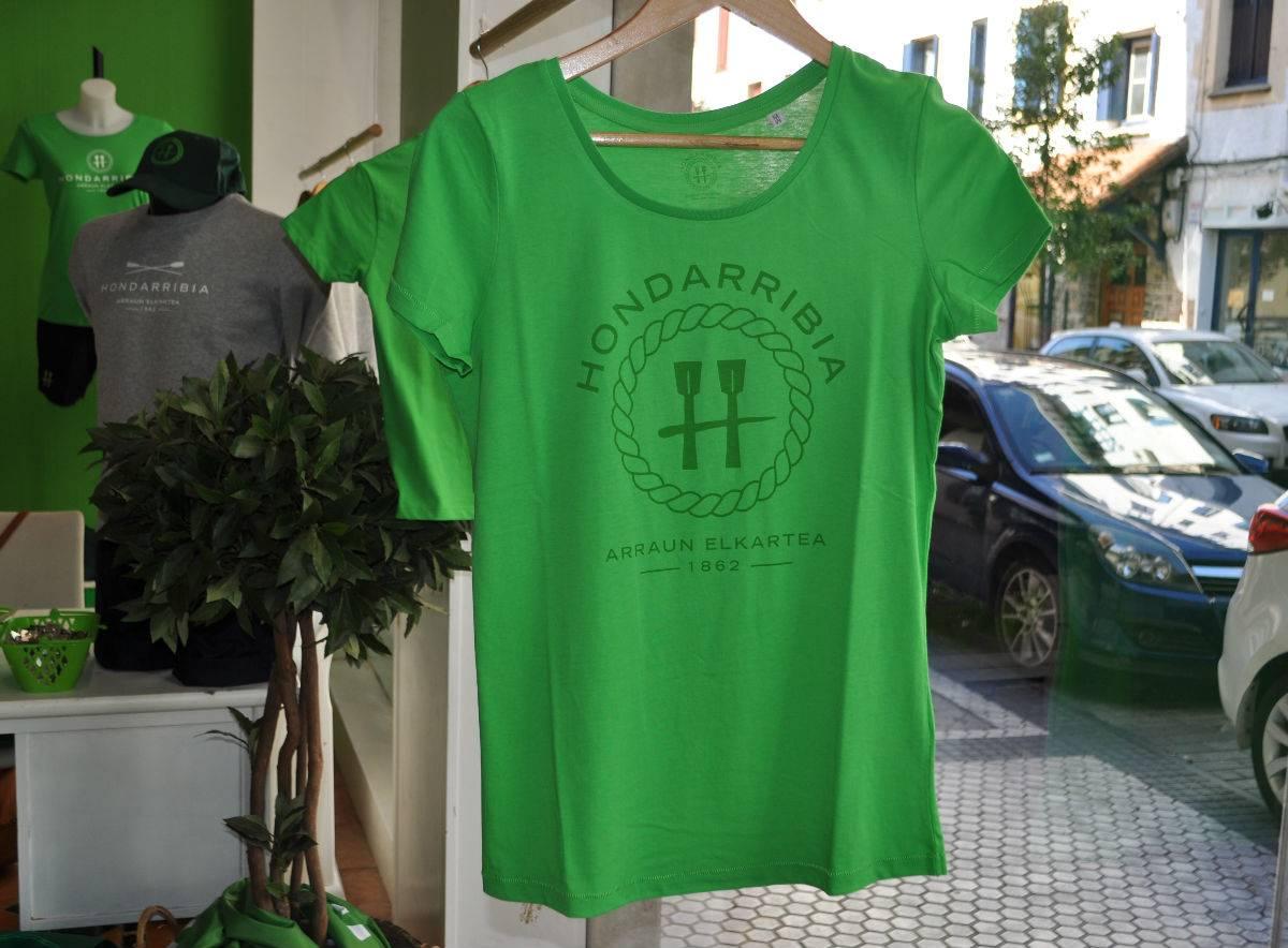 Camiseta Verde de Chica Letras Verdes (portes debidos)