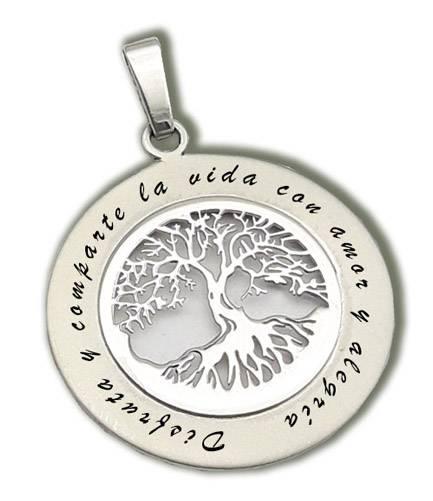 Colgante de plata árbol de la vida